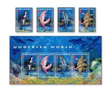 SIN0602 Sea fauna 4 pcs. and sheet
