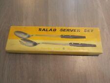 Salad Server Set with Rosewood Handles