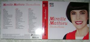 MIREILLE MATHIEU UNE VIE D'AMOUR BEST OF 3 CD