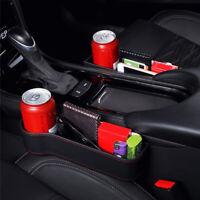 Car Seat Crevice Storage Box Phone Cup Holder Gap Pocket Organizer PU Leather