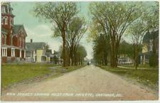 1909 Carthage Illinois Main St Looking West From Fayette - Stillwell DPO cancel