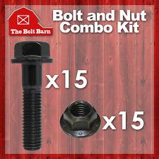 (15) M10-1.5x40 Class 10.9 DIN Hex Flange Bolts & (15) M10-1.5 Flange Lock Nuts