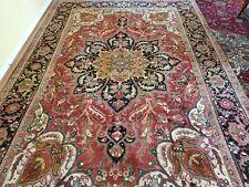 8 x 12 or 7.7 x 11.5 Antique Fine Heriz Rug Ushak Vintage Serapi Kazak Caucasian