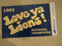 Penn State Nittany Lions, National Champions Poster,1982, white on Blue