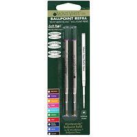Mont Blanc Ball Point Pen Refills by Monteverde, Medium, Pink Ink, Pack of 2