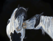 Caspian and Morningstar by K. Fejes ~ Gypsy Vanner, Horse Cob 8X10 Print