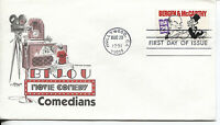 1991 MOVIE COMEDIANS SERIES BERGEN & MCCARTTHY  ARTMASTER CACHET & STORY U/A FDC