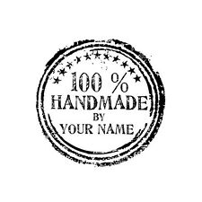 Personalized Custom Made Handle mounted Hand Made by rubber stamp hm08