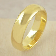 Statement Smooth Ring Band Size 10 Authentic Mens Fashion gold filled Promise