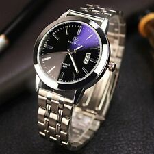 Luxury Mens Stainless Steel Watch Analog Quartz Bracelet Wrist Watches Gift