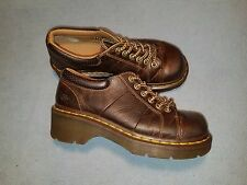 DR MARTENS MELISSA Women's Brown Leather  Lace Up Oxford Shoe 6  UK 4