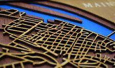 Ihr Wunschort ! Gerahmtes 3D Bild Holz Straßenkarte Karte Geschenkidee Jubiläum