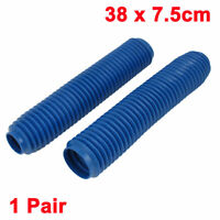 Pair 38cm Long Front Fork Cover Shock Absorber Dust Rubber Cover Blue