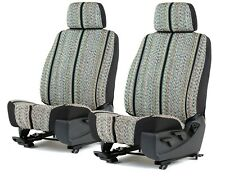 Black Saddle Blanket Bucket Seat Covers For A Pair Of Low Back Bucket Seats