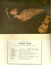 les chefs d'oeuvre de la peinture collection de chèque TINTIN XVIème s série 1