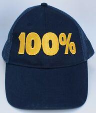 100% Trucker Baseball Cap Hat Adjustable Snapback Mesh Blue Structured 6-Panel