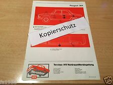 Peugeot 304,  Terotex Hohlraumversiegelungsplan