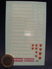 DECALS 1/43 GENDARMERIE ITALIENNE CARABINIERI  - T337