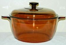 VISIONS AMBER 4.5L DUTCH OVEN STOCK POT + LID GLASS COOKWARE