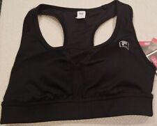 FILA SPORT Runner's Sports Bra ~ Medium Support  ~ Black ~ Small ~ NWT