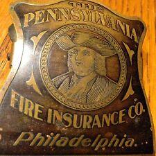 The Pennsylvania Fire Insurance Co Brilliant MFG Ben Franklin Brass Desk Clip **