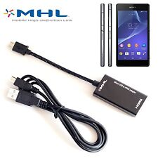 1080P Micro USB MHL to HDMI HDTV CABLE ADAPTER For HTC One M8 LG Sony Xperia Z1