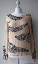 VILA Desire JUMPER summer cotton thin knit long sleeved  sequined L UK10 / 38