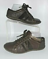Born Womens Oxfords 7.5 Shoes Brown Pebbled Leather Lace Up Loafer Flats