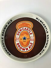 "Newcastle Brown Ale 12"" Round Metal Serving Advertising Beer Tray."