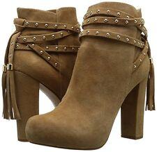 1f9132ada4a9 Jessica Simpson Womens Marguerit Platform BOOTIES Dakota Tan Suede 8.5m