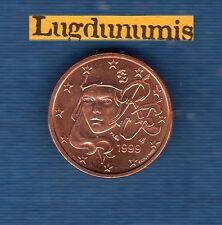 FRANCE - 1999 - 2 centimes d'euro - Pièce neuve de rouleau -