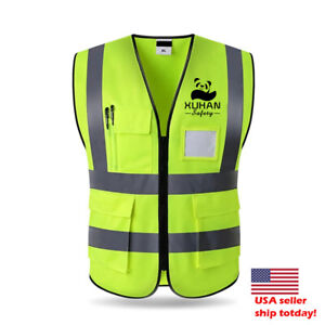 High Visibility Reflective Vest Working Clothes  Outdoor Reflective Safety XL