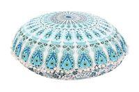 Large Mandala Round Floor Cushion Covers Ottoman Poufs Throw Meditation Pillows