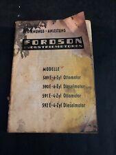 [8221-B31] Catalogue -Fordson industriemotoren - 589E-6-ZYL 590E 591E 592E