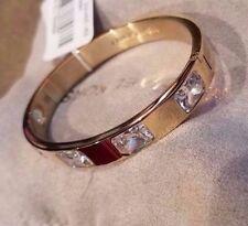 MICHAEL KORS MKJ4550 Gold Tone St Steel Raised Crystals Hinged Bracelet Jewelry