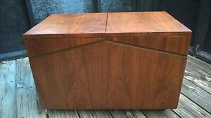 Lane Altavista walnut LP record cabinet vintage mid century modern ca. 1970s