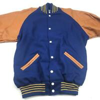 NEW Baptist's Varsity Letterman Wool Jacket W/  Genuine Leather Sleeves Sz LG