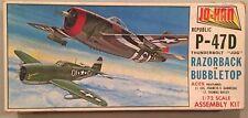 Jo-Han 1:72 Republic P-47D Thunderbolt Jug Razorback or Bubbletop A-102