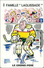 Ice hockey sur glace SPORT PLAYING CARD CARTE À JOUER HUMOR HUMOUR 60s