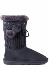 BEARPAW RAINA Sheepskin Knitted Wool Winter Boots Womens 6 NEW IN BOX