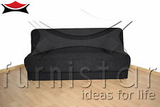 MODERN Sofa Bed BLACK with storage COUCH SETTEE BONELL SPRINGS polskie wersalki