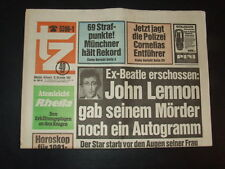 """Ex-Beatle erschossen: John Lennon"" - ""tz"" vom 10. Dezember 1980"
