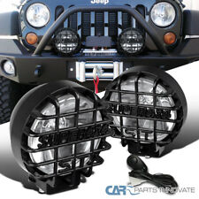 "2PCs 6"" Round Black Offroad Super 4X4 Work Fog Light Lamps+Wiring+Relay+Switch"