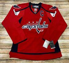 Reebok WASHINGTON CAPITALS Jersey ALEX OVECHKIN Sewn NHL Hockey Red Blue 50 BNWT