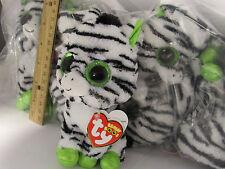 RETIRED TY beanie Baby Babies Boos Boo's Zig-Zag Zebra 6 inch big eyes MWMT