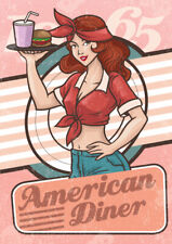 Route 66 Metal Plaque, Retro Bar Sign, American Diner, Man Cave, Pub, Cafe