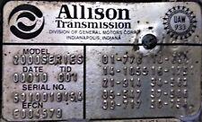 Allison LCT 2000 TRANSMISSION Freightliner 2001