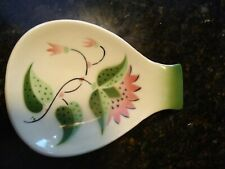 Spoon Rest With Pink Flowers