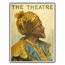 THE THEATER MAGAZINE METAL SIGN WALL PLAQUE Advert poster Vintage art print