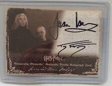HARRY POTTER Art box Tom Felton & Jason Isaacs Dual Autograph Card